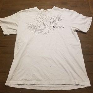 Nautical Floral T-shirt Men's size Large